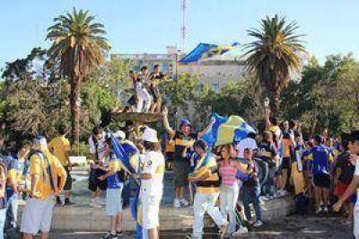 La 12 de Boca festejó en San Juan