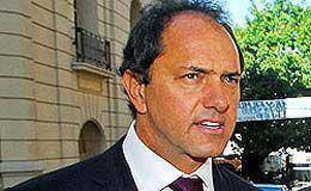 "Scioli volvió a criticar a jueces ""hipergarantistas"""