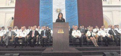 "Cristina afirm� que la Fragata Libertad dio una ""lecci�n"" de dignidad y soberan�a"