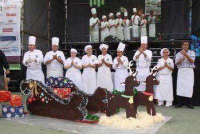 Con un trineo de 200 kg, culminó el Festival Gastronómico