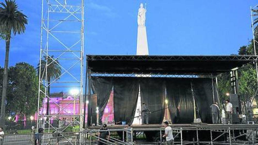 El sindicalismo opositor lleva sus reclamos a Plaza de Mayo