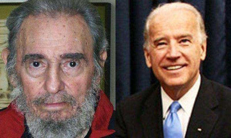 Fidel Castro criticó a Joe Biden