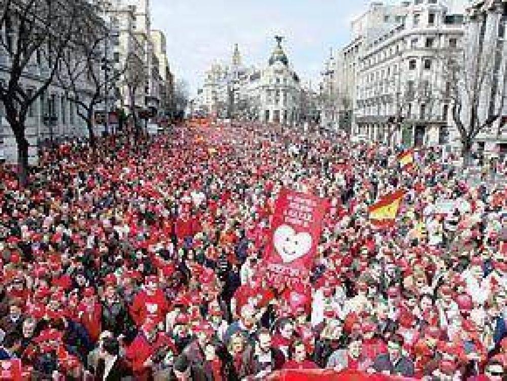 Marchas en toda España contra la ley de aborto
