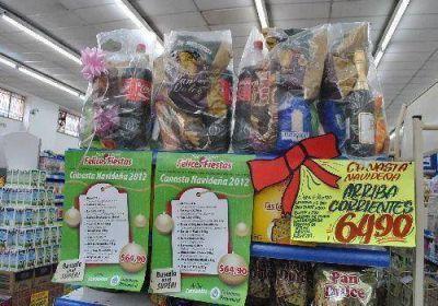 Canasta navideña: por las ventas, comercios reponen tres veces por día las góndolas