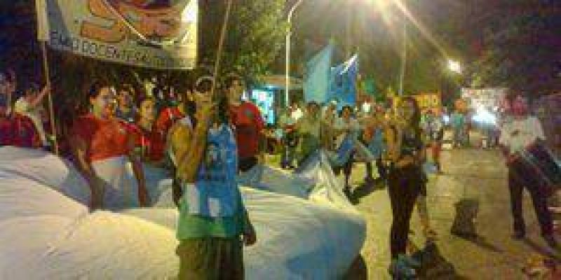 Escasa adhesi�n en Formosa de la marcha convocada por CGT y CTA