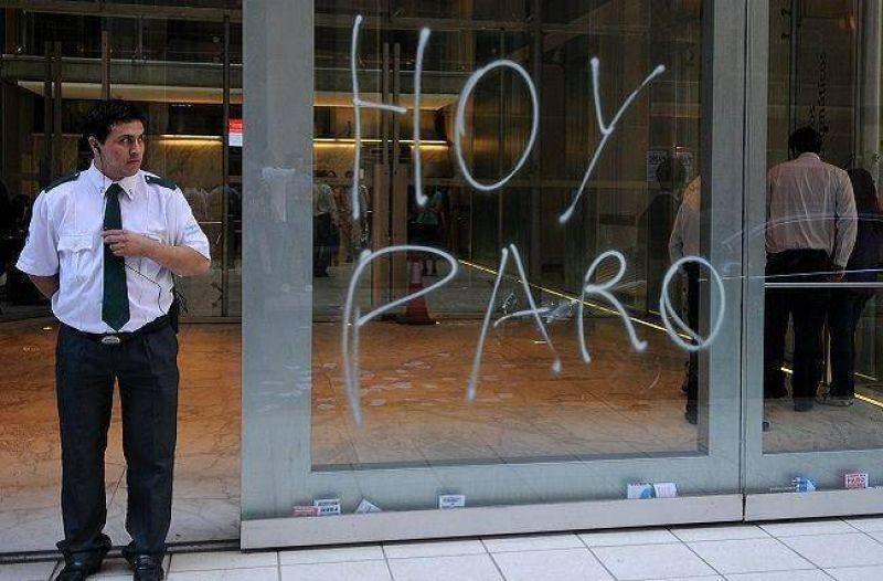 El gremio bancario en huelga este jueves