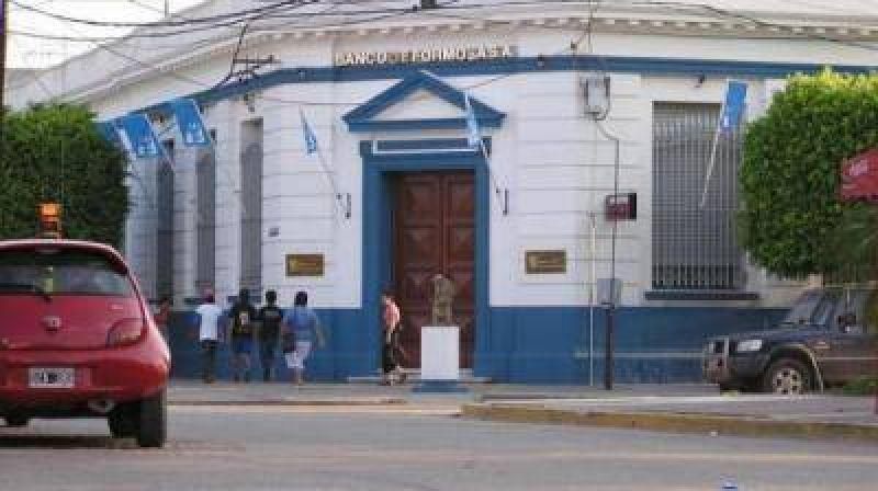 El Banco Formosa atiende normalmente esta mañana