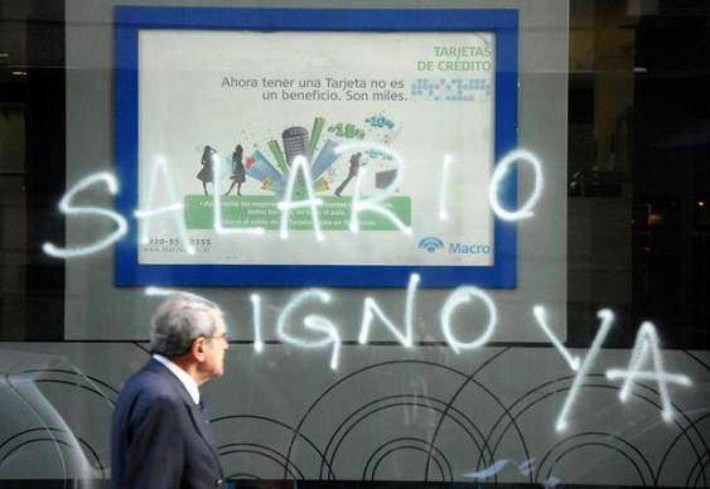 Paran hoy los bancarios y no habrá atención al público