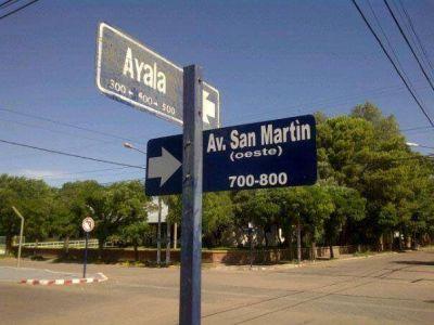 La avenida ya se llama San Martín Oeste