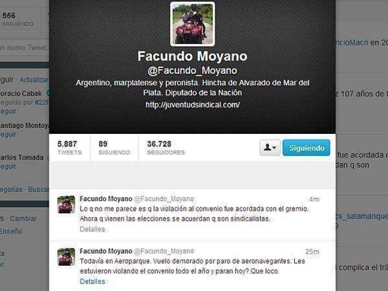 Facundo Moyano, enojado por una medida gremial en el Aeroparque