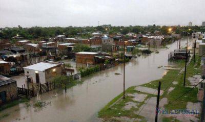 Lluvia histórica con más de 100 mm en doce horas sorprendió a los correntinos