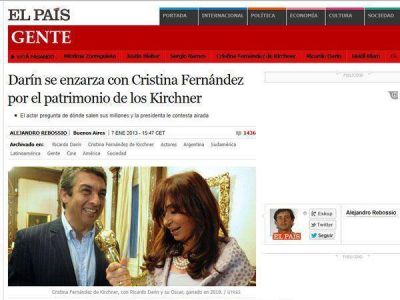 Continúan las repercusiones por la polémica entre Darín y Cristina Kirchner
