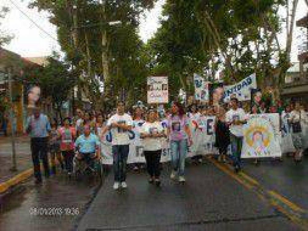 Erica Soriano: Marcharon para pedir por la detención de Daniel Lagostena