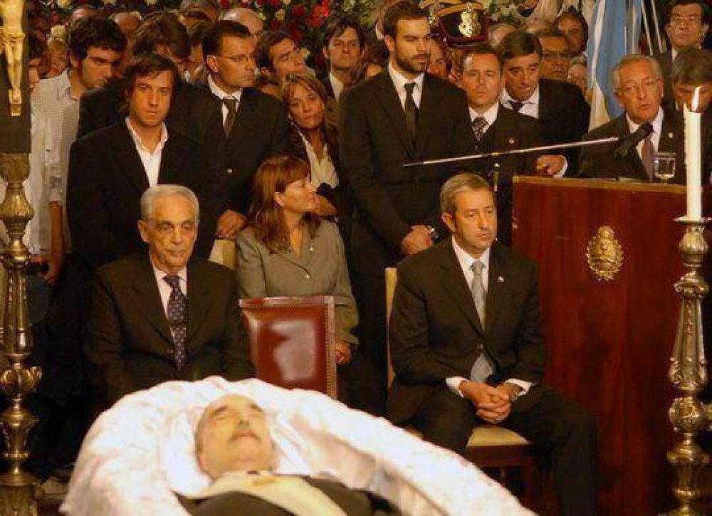 Fellner representó al oficialismo en la despedida al ex presidente Alfonsín