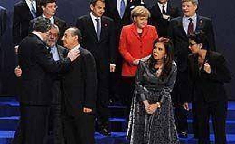 Esta vez, Cristina fue la primera en la foto