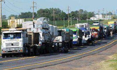 El tránsito de camiones será restringido en el recambio de quincena