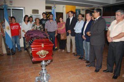 El vicegobernador Dalmacio Mera despidió los restos de Lucio López en la Legislatura catamarqueña