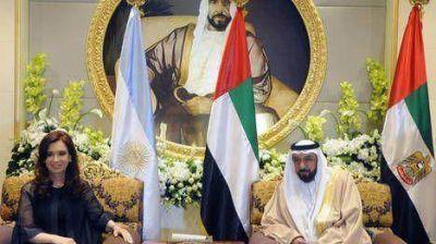 Cristina se reunió con el presidente de los Emiratos Árabes