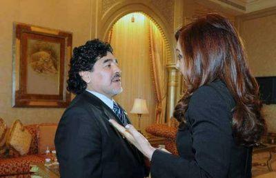 Maradona se reunió con Cristina y pidió estar orgullosos del país y del Gobierno