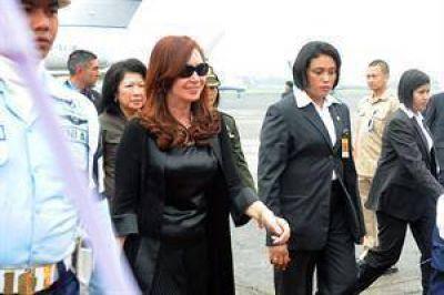 Cristina Kirchner se reunió con el presidente de Indonesia y renovó su pedido por Malvinas