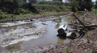 Preocupante: el rio Bermejito está prácticamente seco en Nueva Pompeya