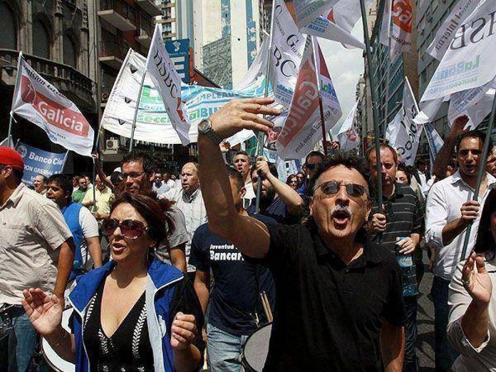 """Bancarios rechazan límites a las paritarias: """"Abal Medina dijo que no hay tope"""""""
