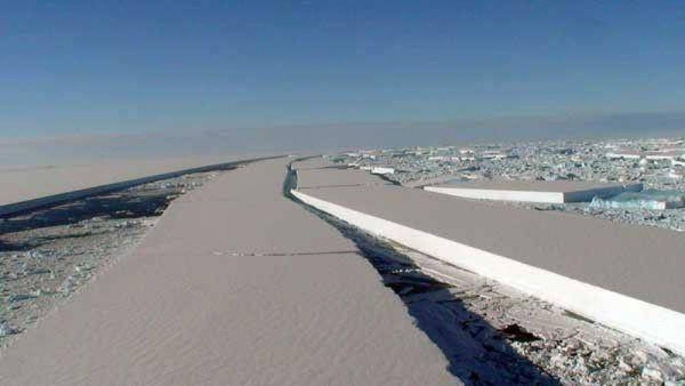 Se desintegró el puente de hielo que sostenía una barrera antártica