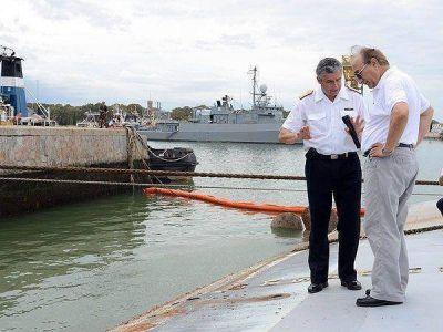 Puricelli visitó el lugar donde se hundió el buque Santísima Trinidad