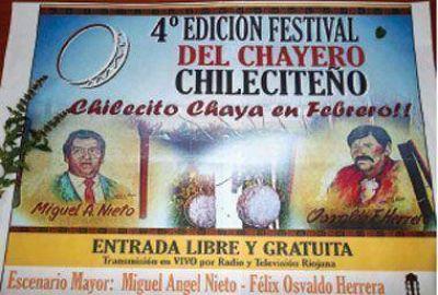 Hoy y mañana, se vivirá a pleno el Festival del Chayero Chileciteño