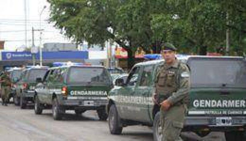 En el marco de un plan nacional Llegaron 140 gendarmes para reforzar la seguridad del distrito