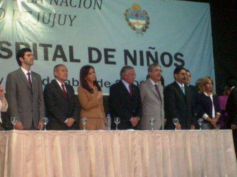 Cristina Fernández de Kirchner inauguró el nuevo edificio del Hospital de Niños.