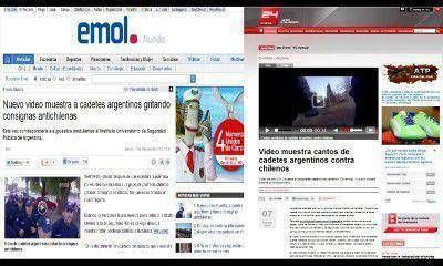 Medios nacionales e internacionales reproducen la noticia de los cadetes cantando contra los chilenos