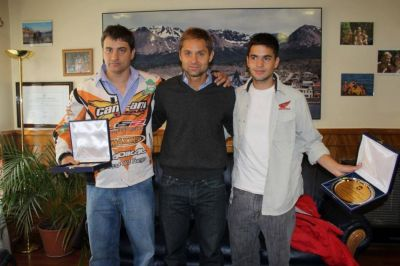 El Intendente recibió la visita de Lucas Bonetto y Marcelo Fernández