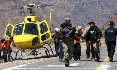 Hay 120 nuevos evacuados y Pérez prometió seguir con los trabajos