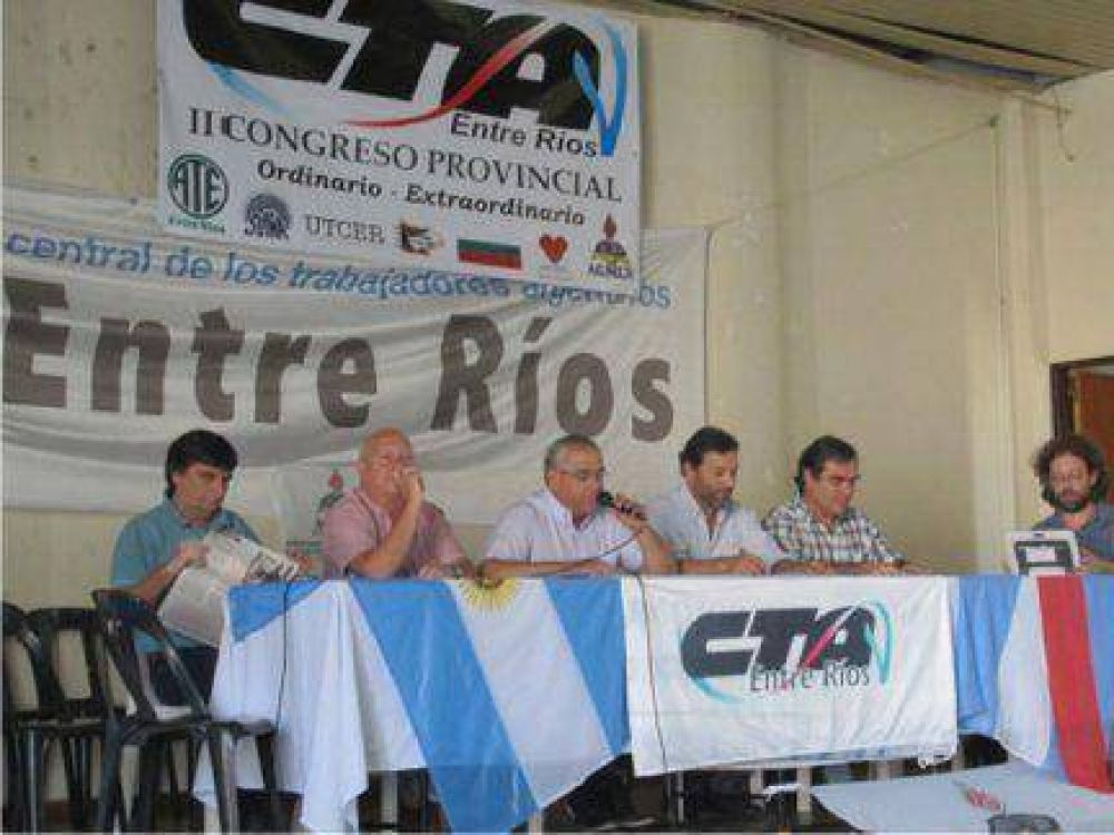 CTA Entre Ríos realizará un plenario con la mesa provincial y pide abrir la paritaria