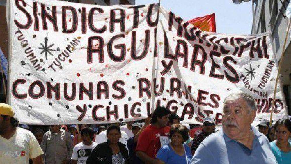 Municipales del interior protestaron por salarios