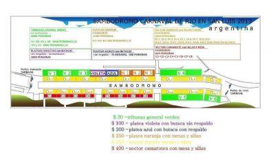Están a la venta las entradas para el Carnaval de Río en San Luis 2013