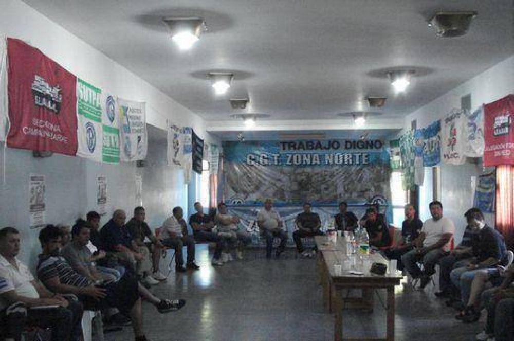 La CGT moyanista Zona Norte ultima detalles para su Congreso Normalizador