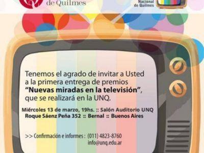 La Universidad Nacional de Quilmes premiará a la TV