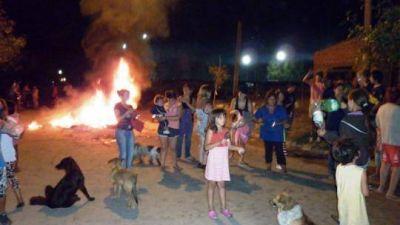 Okupas se manifestaron con un piquete en la avenida Illia