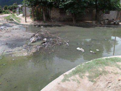 Familias de Villa Juanita viven en medio de una laguna cloacal
