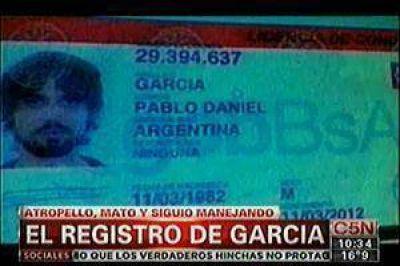 Aclaran que Pablo García tiene su licencia de conducir vigente