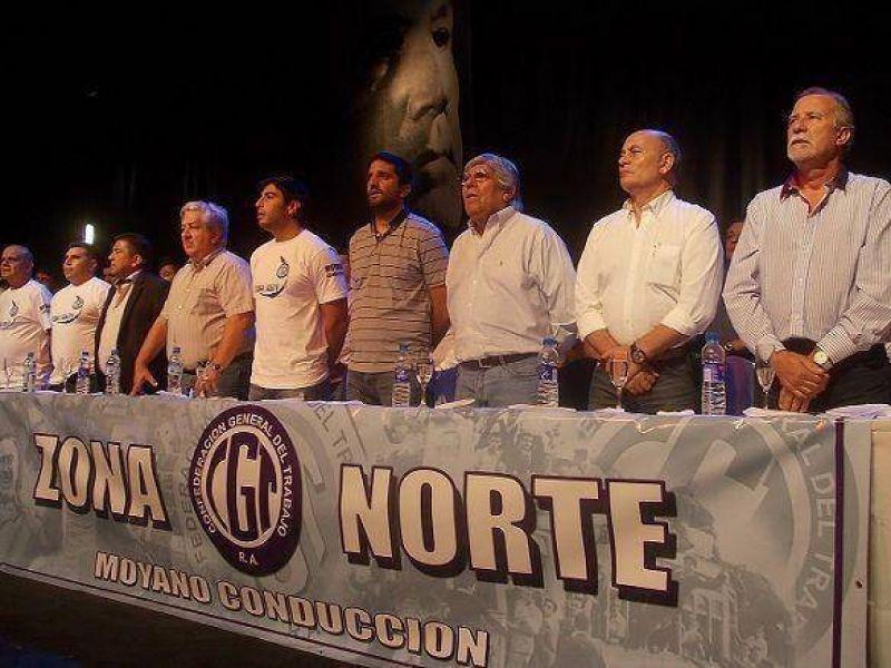 Moyano y Venegas encabezaron la normalización de la CGT Zona Norte