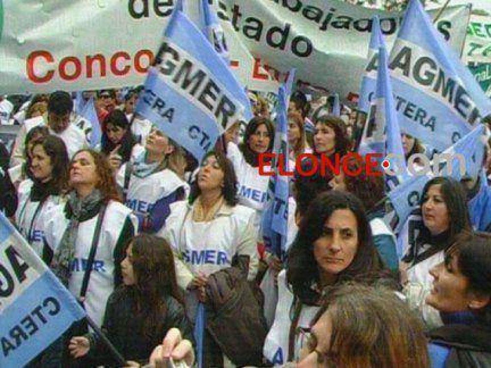 AGMER se moviliza a Casa de Gobierno junto con CTA Entre Ríos y ATE