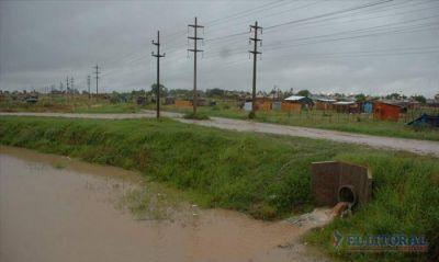 Okupas: en el barrio Pirayuí no hubo problemas con las precipitaciones