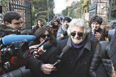 Grillo mantiene su propio cónclave en Roma