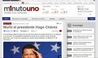 El portal de Cristóbal dijo que murió Hugo Chávez