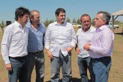 Jorge Macri, Cariglino, Posse, Baldassi y Del Sel, en Expoagro
