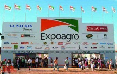 Meoni estuvo en la apertura de Expoagro en Baradero