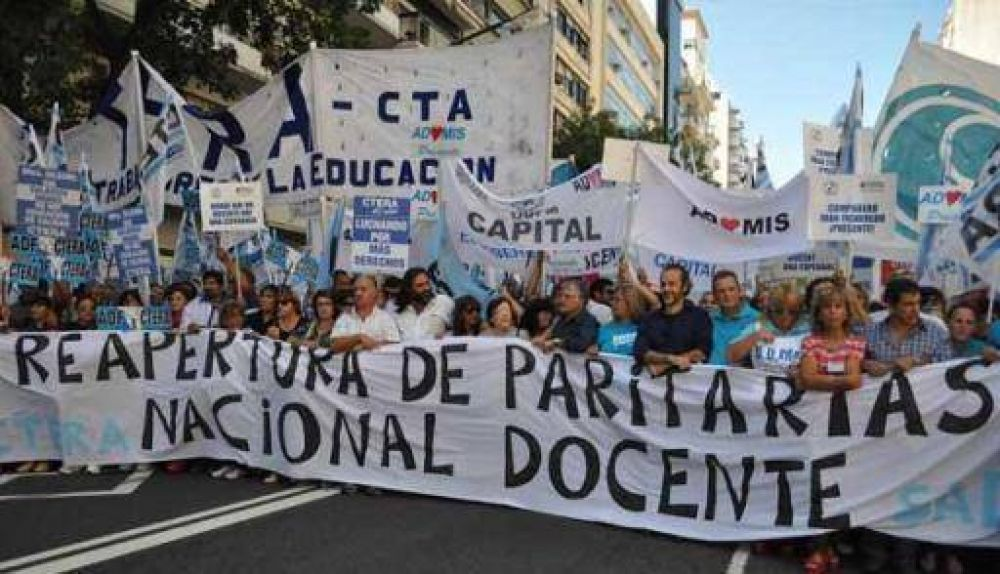 ATECa participó de masiva movilización al Ministerio de Educación de la Nación